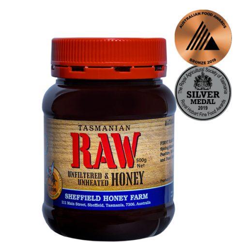 Sheffield Honey Farm Tasmanian RAW Honey 500g PET jar