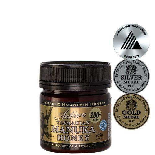 Cradle Mountain Organic Tasmanian Manuka Active 200+ Honey 250g jar