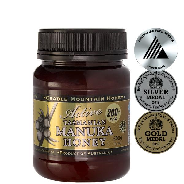 Cradle Mountain Organic Tasmanian Manuka Active 200+ Honey 500g jar
