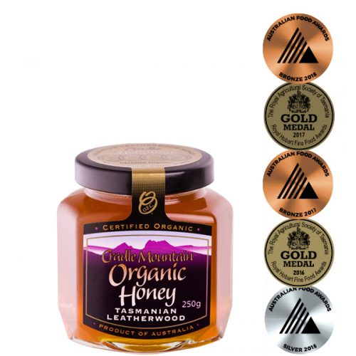 Cradle Mountain Organic Tasmanian Leatherwood Honey 250g jar