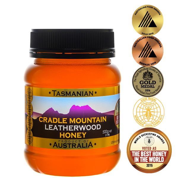 Cradle Mountain Tasmanian Leatherwood Honey 500g PET jar