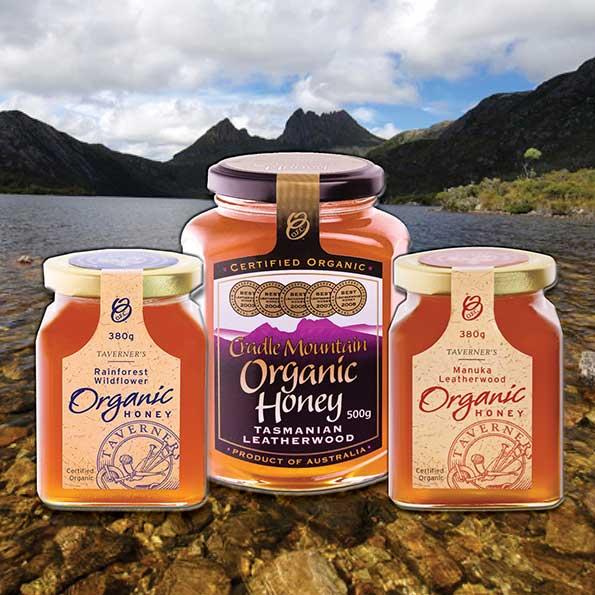 Tasmanian Organic Honey Range