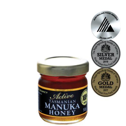 Cradle Mountain Organic Tasmanian Manuka Active 100+ Honey 50g jar
