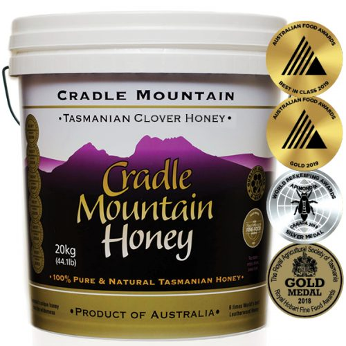 Cradle Mountain GMO Free Tasmanian Clover Honey 20kg Pail