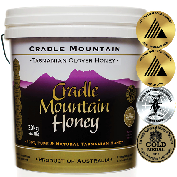 Cradle Mountain GMO Free Tasmanian Clover Honey 20kg Pail